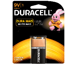 Bateria Duracell 9V - Cartela com 1
