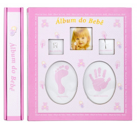 Ábum de Bebê 10x15 para 120 fotos ROSA - 46120-57