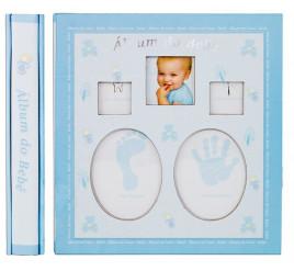 Ábum de Bebê 10x15 para 120 fotos AZUL - 46120-57
