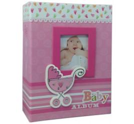 Álbum de Bebê 10x15 para 200 fotos ROSA - 483