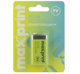 Bateria 9V Maxprint  Alcalina - Cartela com 1