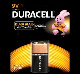 Bateria Duracell 9V - Cartela com 1 Unidade