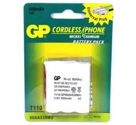 Bateria GP T110 - T160 para Telefone S/ Fio - 600mAh -3,6V - Cartela com 1