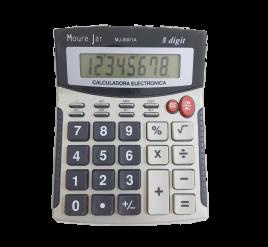 Calculadora de Mesa - Média - 8 dígitos - 8001A