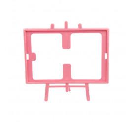 Cavalete de Foto 10x15 Rosa