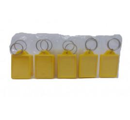 Chaveiro de Foto 3x4 Amarelo - Pacote com 10