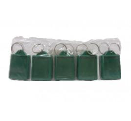 Chaveiro de Foto 3x4 Verde - Pacote com 10