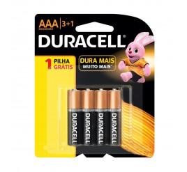Pilha Duracell AAA - Palito - Cartela com 4 Unidades