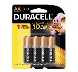 Pilha Duracell  AA - Pequena - Cartela com 4 Unidades