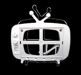 Tv Retrô para Foto 10x15 Branco