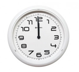 Relógio de Parede Eurora Branco - 6517