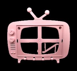 Tv Retrô para Foto 10x15 Rosa