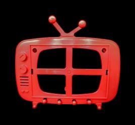 Tv Retrô para Foto 10x15 Vermelho