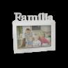 Porta Retrato PVC 10x15 Horizontal - Família Branco